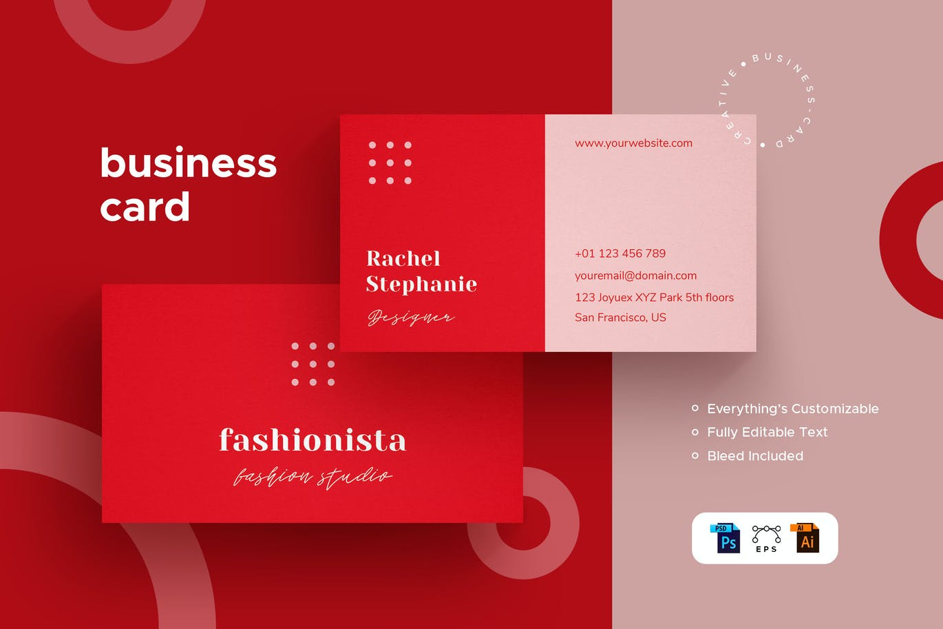 Fashionista - Business Card - Stationery Kit