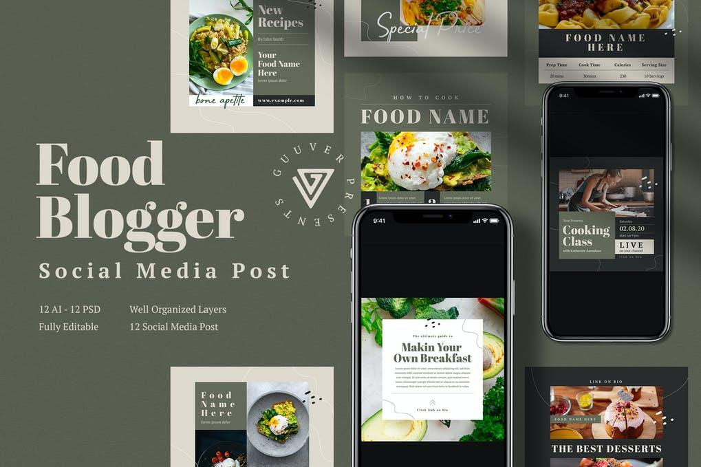 Food Blogger Social Media Post