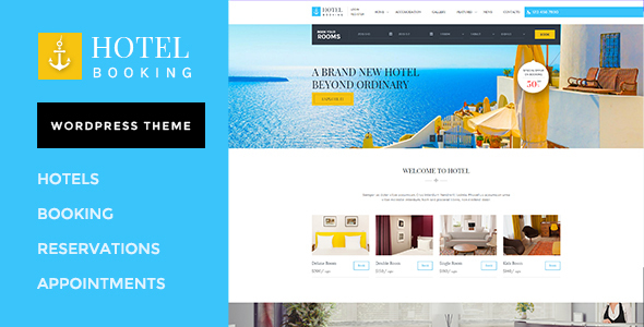 Hotel Booking - Hotel WordPress Website Template