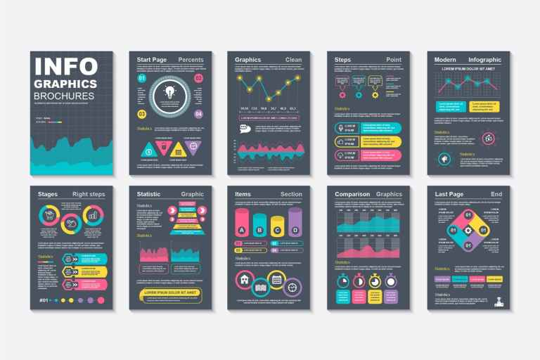 Infographic Brochure Data Visualization