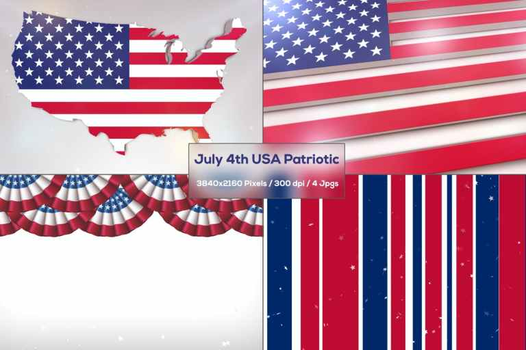 July 4th USA Patriotic Backgrounds