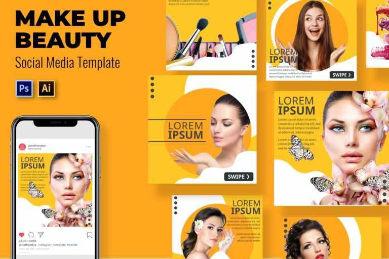 Make Beauty Social Media Template