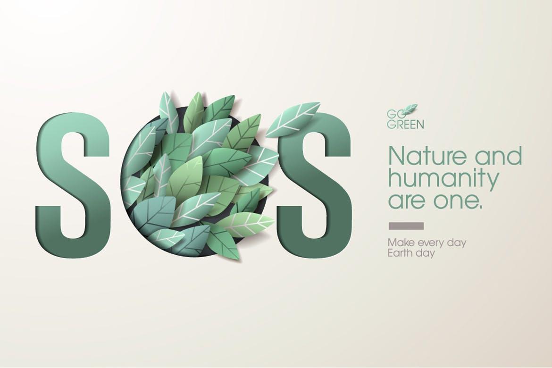 Nature web banner concept design