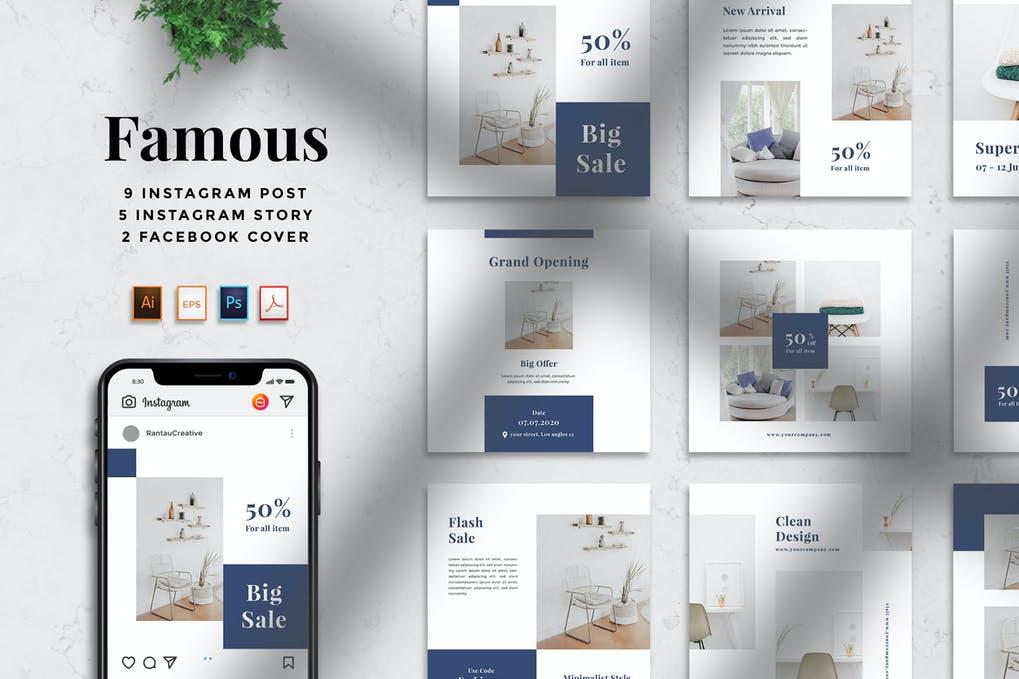 RantauTemp - Famous Furniture Social Media Pack