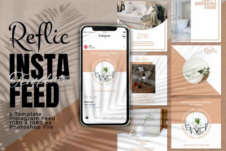 Reflic Instagram Feed Post Template