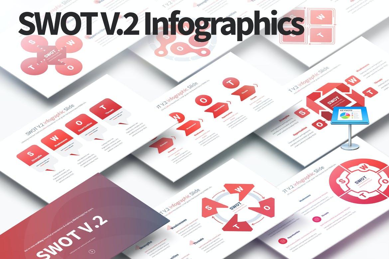 SWOT V.2 - Keynote Infographics Slides
