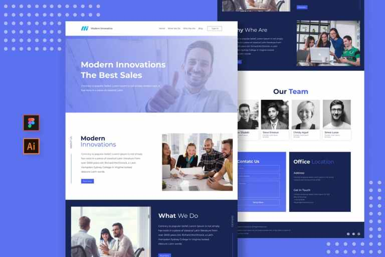 Sanstemp - Business Landing Page