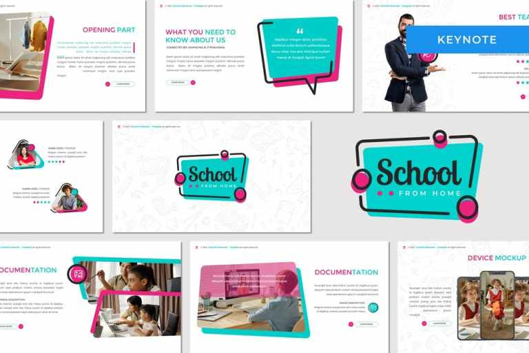 School From Home - Education Keynote Template