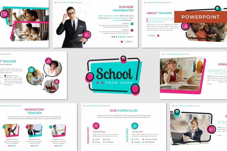 School From Home - Education Powerpoint Template