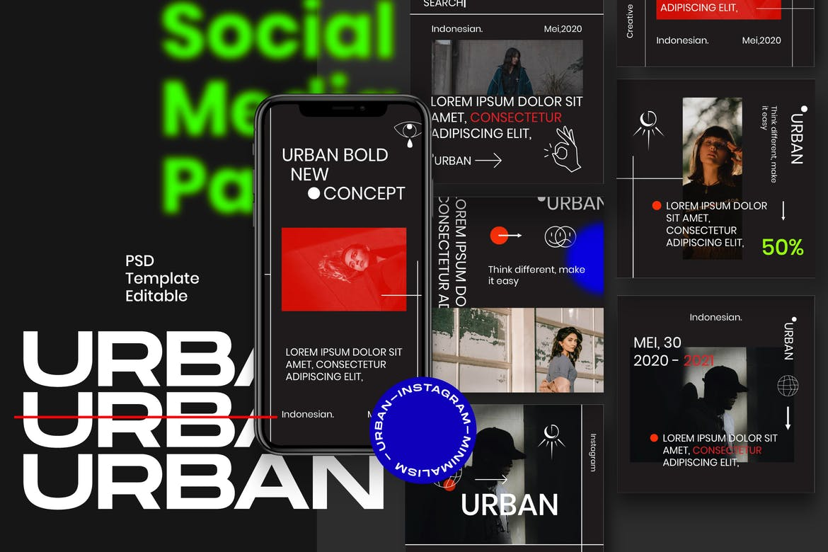 URBAN - Insta Story & Post Social Media Vol.1