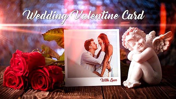 Wedding Valentine Card