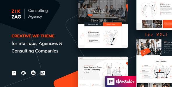 ZikZag v1.0.4 - Consulting & Agency WordPress Theme