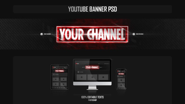 Banner for youtube channel with cinematic concept