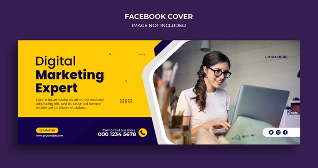 Corporate business agency facebook cover and web banner template Premium Psd