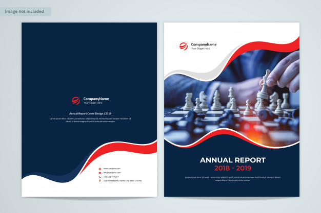Front & back annual report cover design with image