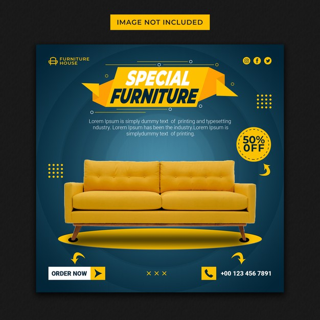 Instagram post for special furniture sale template Premium Psd