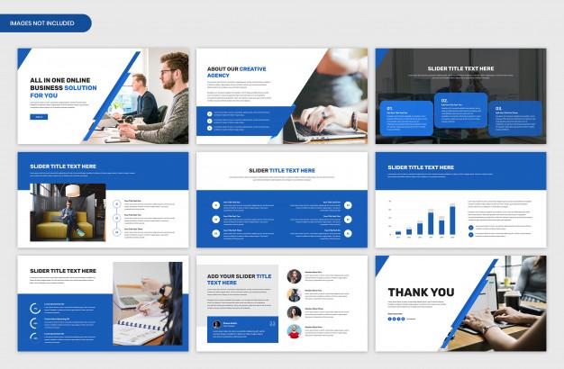 Minimal business presentation slider template design