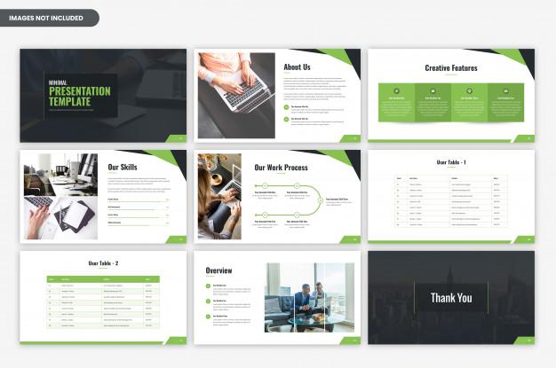 Minimal corporate business presentation template