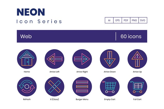 60 Web Line Icons
