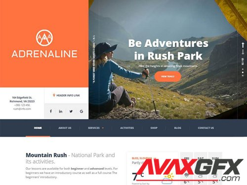 Adrenaline v1.9.0 NULLED - Extreme Sports WordPress Theme