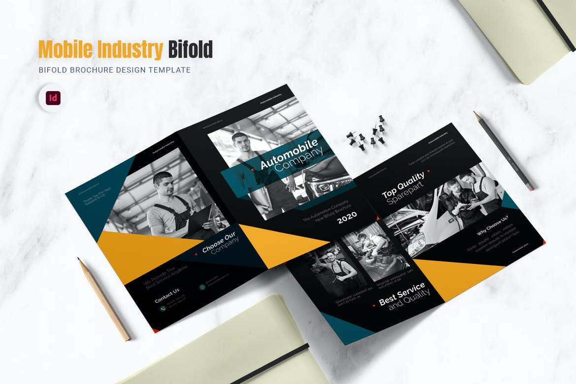 Auto Mobile Industry Bifold Brochure