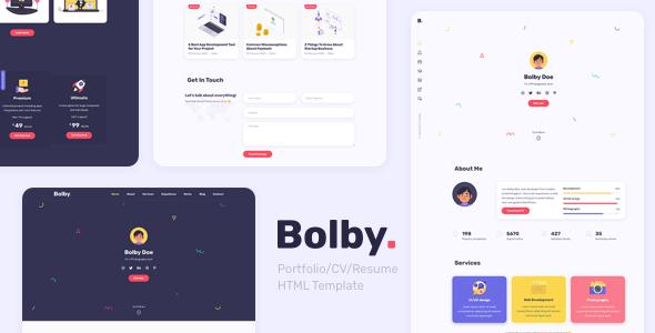 Bolby - Portfolio-CV-Resume WordPress Theme