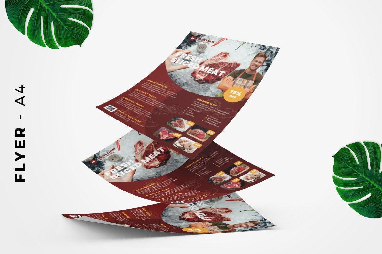 Fresh Meat Butcher Flyer Design