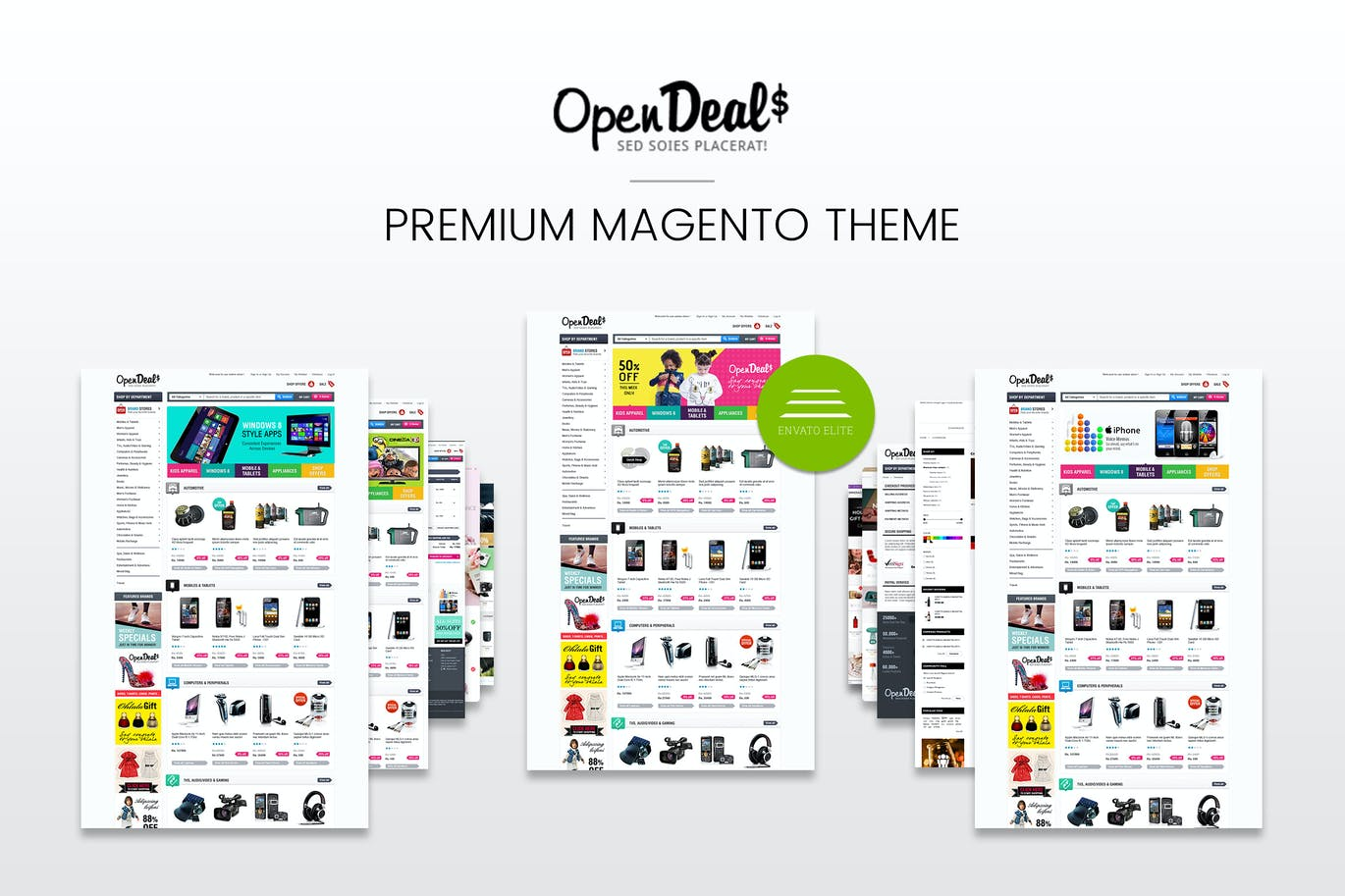 Gala OpenDeal Reponsive Magento Theme CE 1.9