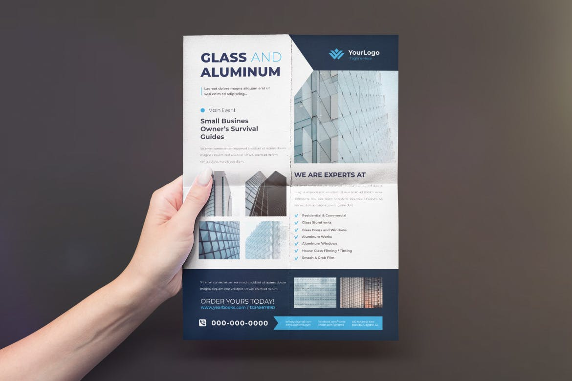 Glass Aluminum Flyer Design