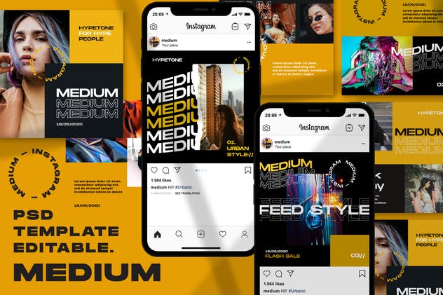 Medium - Instagram Template