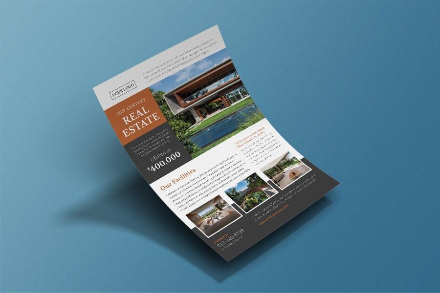 Mid Century Real Estate Flyer