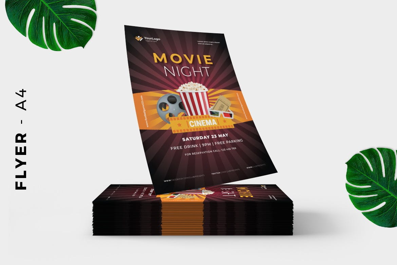 Movie Night Event FlMovie Night Event Flyer Designyer Design 2