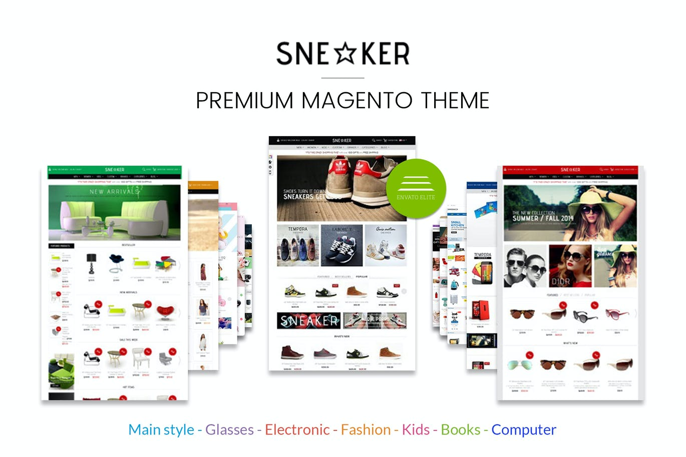 Multi-purpose Magento Theme - Sneakers Store