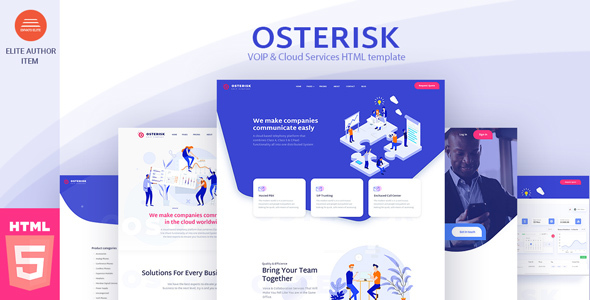 Osterisk- VOIP & Cloud Services WordPress Theme