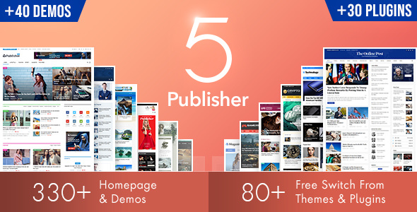 Publisher v7.7.0 NULLED - WordPress News Template