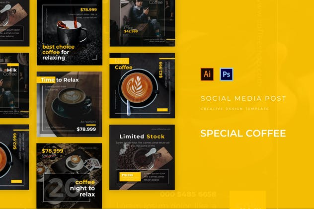Special Coffee Social Media Post Template