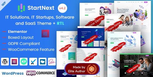 StartNext - Elementor IT & Business Startups WP Theme