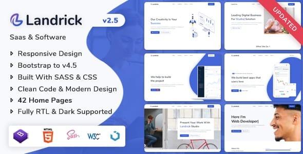Landrick - Saas & Software Landing Page Template