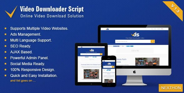 Video Downloader Script v1.3 - video download script