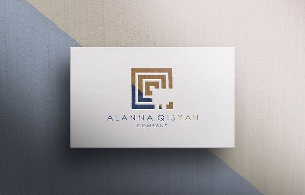 3d logo mockup for business company Premium Psd
