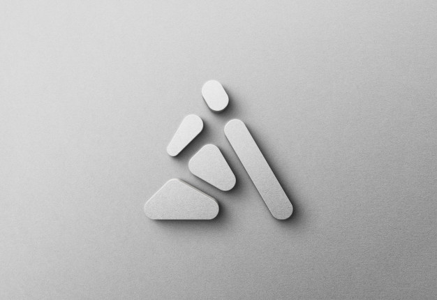 3d logo mockup on white matted wall Premium Psd