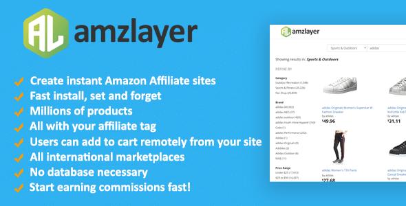 Amzlayer v1.10 - script for creating affiliate sites Amazon