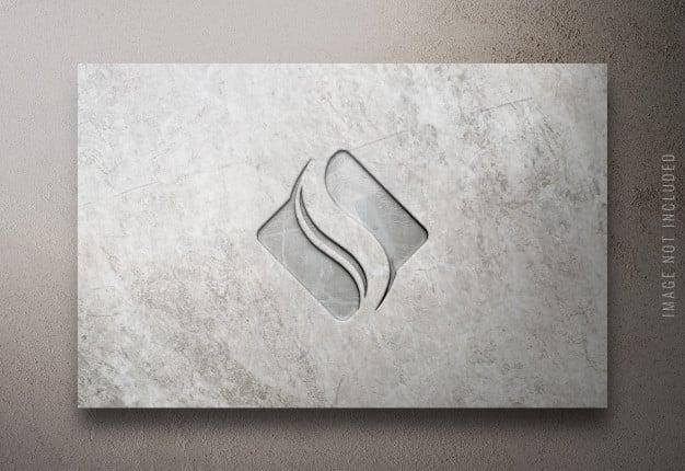 Close up on luxury logo mockup Premium Psd