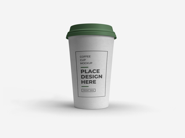 Coffee cup packaging mockup isolated Premium Psd