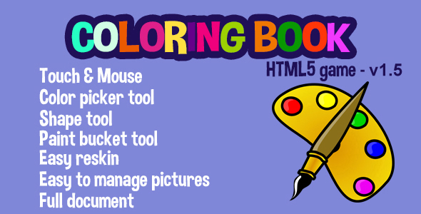 Customizable Coloring Book v1.5 - script coloring game