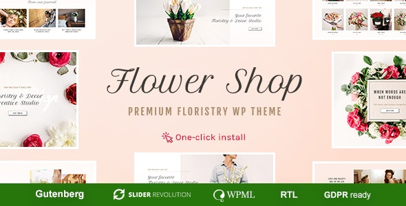 Flower Shop v1.1.1 - Flower Boutique & Jewelry Shop WordPress Theme
