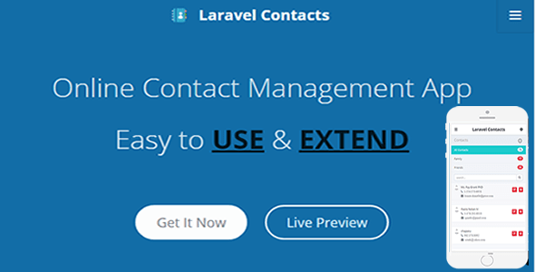 Laravel Contact – Online Contact Management App