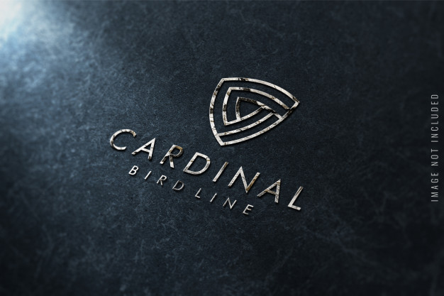 Logo mockup on marble texture Premium Psd