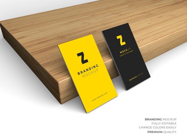 Psd business card mockup design isolated Premium Psd