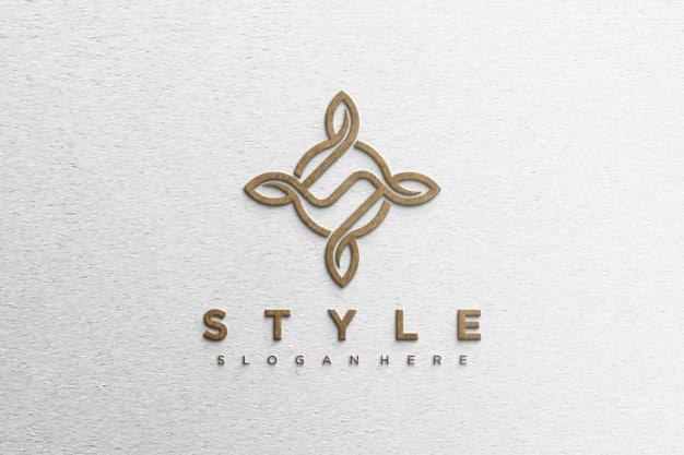 Simple modern logo mockup Premium Psd
